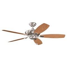 Kichler Ceiling Fan Without Light in Brushed Stainless Steel Finish