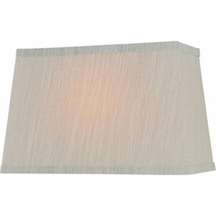 Beige Rectangle Lamp Shade with Spider Assembly