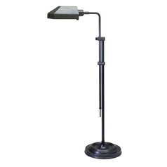 Pharmacy Lamp with White Shade in Oil Rubbed Bronze Finish