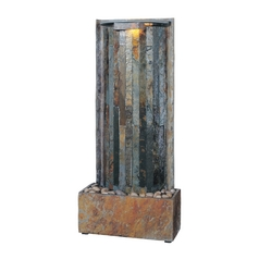 Indoor Fountain in Natural Slate Finish