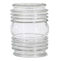 Satco Lighting Clear Cylindrical Glass Shade - 3-1/4-Inch Fitter Opening SC 50-114