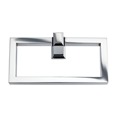 Modern Towel Ring in Polished Chrome Finish