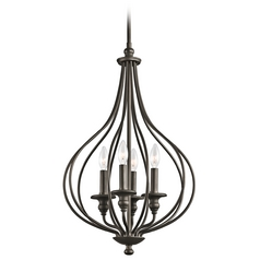 Cottage pendant lights destination lighting kichler pendant light in olde bronze finish aloadofball Images