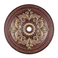 Livex Lighting Verona Bronze with Aged Gold Leaf Accents Ceiling Medallion