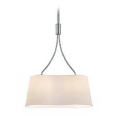 Lite Source Lighting Groda Chrome Pendant Light with Cylindrical Shade
