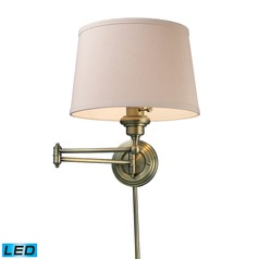 Elk Lighting Westbrook Antique Brass LED Swing Arm Lamp