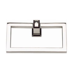 Modern Towel Ring in Polished Nickel Finish