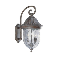 Progress Outdoor Wall Light with Clear Glass in Fieldstone Finish
