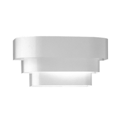Progress Stepped Sconce Wall Light in White Finish