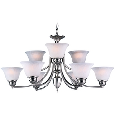 Maxim Lighting Malaga Satin Nickel Chandelier