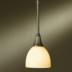 Hubbardton Forge Lighting Trumpet Dark Smoke Mini-Pendant Light