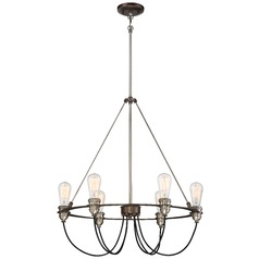 Minka Uptown Edison Harvard Court Bronze with Pewter Pendant Light