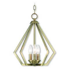Livex Lighting Prism Antique Brass Mini-Chandelier
