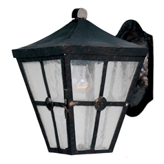 Maxim Lighting Outdoor Wall Light with Clear Glass in Country Forge Finish 30231CDCF