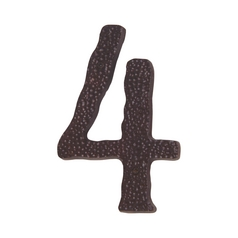 Modern House Number in Aged Bronze Finish