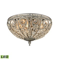 Elk Lighting Elizabethan Weathered Zinc LED Flushmount Light