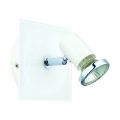 Eglo Tamara 1 White & Chrome Sconce