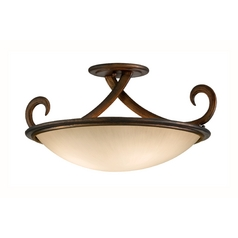 Corbett Lighting Dauphine Bronze Semi-Flushmount Light
