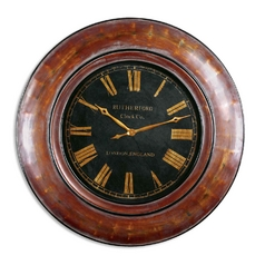 Clock in Walnut Brown Finish