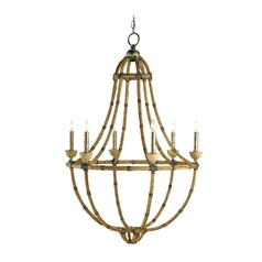 Modern Chandelier in Pyrite Bronze Finish