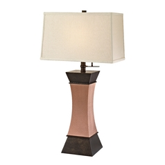 Modern Table Lamp in Remington Bronze/coupra Finish