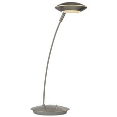 Modern LED Task Lamp in Satin Nickel Finish