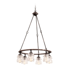 Kalco Lighting Brierfield Antique Copper Chandelier