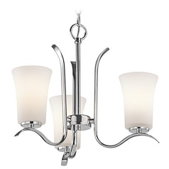 Kichler Armida 3-Light Mini Chandelier in Chrome