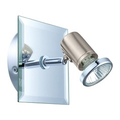 Eglo Tamara 1 Matte Nickel & Chrome Sconce