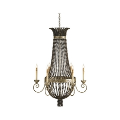 Chandelier in Distressed Silver Leaf Finish
