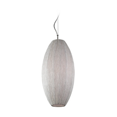 Modern Pendant Light with White Shade in Ivory Finish