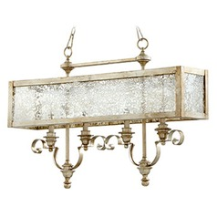 Quorum Lighting Aged Silver Leaf Island Light