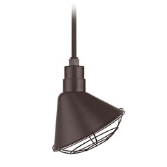 Bronze Pendant Barn Light with 12
