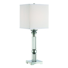 Lite Source Lighting Nicolette Chrome Table Lamp with Square Shade