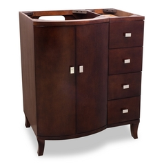 Hardware Resources Bathroom Vanity in Mahogany Finish VAN067