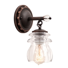 Kalco Lighting Brierfield Antique Copper Sconce