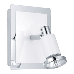 Eglo Eridan Chrome / Shiny White Sconce