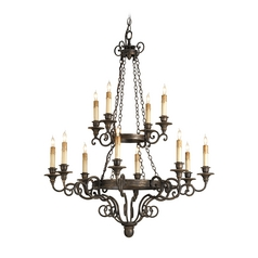 Chandelier in Hand Rubbed Bronze Finish