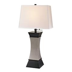 Modern Table Lamp in Ebony/satin Nickel Finish