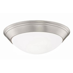 Pau Satin Nickel Flushmount Light - 11-3/4-Inches Wide