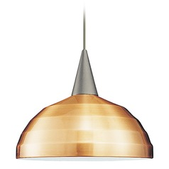 WAC Lighting Felis Brushed Nickel LED Pendant Light with Bowl / Dome Shade
