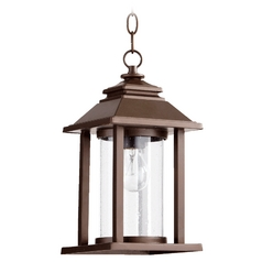 Quorum Lighting Crusoe Oiled Bronze Outdoor Hanging Light