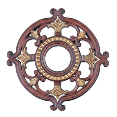 Livex Lighting Livex Lighting Verona Bronze with Aged Gold Leaf Accents Ceiling Medallion 8218-63