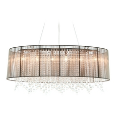 Avenue Lighting Beverly Drive Chrome Pendant Light with Oval Shade