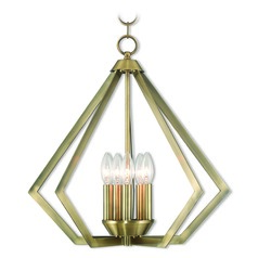 Livex Lighting Prism Antique Brass Chandelier