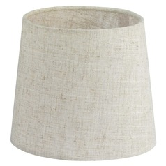 Flax Linen Empire Lamp Shade with Uno Assembly