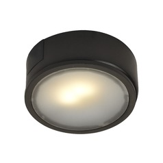 120 Volt Bronze LED Puck Light Surface Mount 2700K 260 Lumens