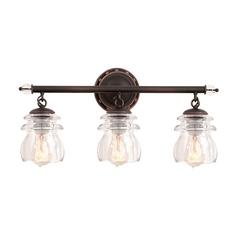 Kalco Lighting Brierfield Antique Copper Bathroom Light