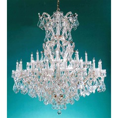 Crystorama Maria Theresa 2-Tier 25-Light Crystal Chandelier in Gold