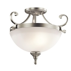 Kichler Lighting Monroe Brushed Nickel LED Semi-Flushmount Light